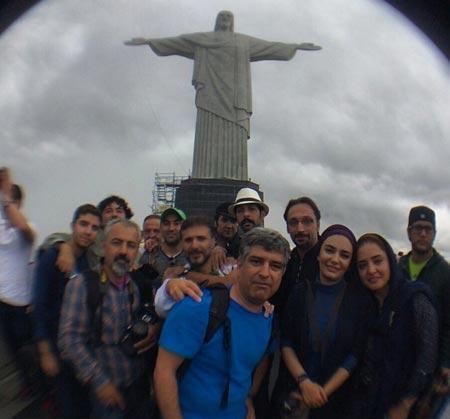 هنرمنداندر برزیل هنرمندان در برزیل نرگس محمدی لیندا کیانی رضا یزدانی بازیگران در برزیل