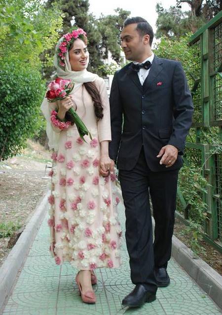 همسر هانیه غلامی,عکس عروسی هانیه غلامی
