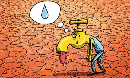 نقاشی های آموزنده درباره اسراف کاریکاتور صرفه جویی درون مصرف آب mimplus.ir