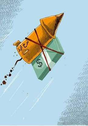 کاریکاتورهای افزایش قیمت دلار,کاریکاتو قیمت دلار,کاریکاتور دلار