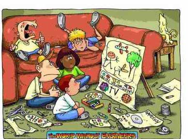 دنیای بدون مهندس (کاریکاتور)
