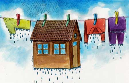 کاریکاتور خانه تکانی