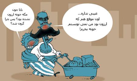 کاریکاتور افزایش قیمت مسکن, قیمت مسکن 95, افزایش قیمت مسکن 1395