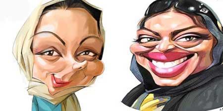 کاریکاتور,کاریکاتور بازیگران زن 95,کاریکاتور بازیگران مرد95