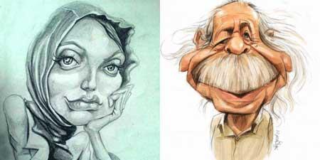 کاریکاتور,کاریکاتور بازیگران زن,کاریکاتور بازیگران مرد