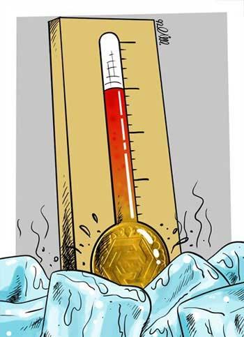کاریکاتور سقوط قیمت سکه