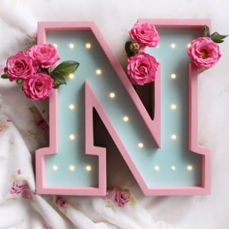 تصاویر کارت پستال های حرف N, عکس های حرف N, پوسترهای حروف انگلیسی