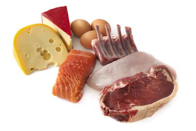 رژیم پروتئین لاغری, مقدار پروتئین در مواد غذایی
