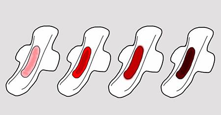 رنگ خون قرمز روشن در دوران پریودی, رنگ خون قهوه ای در دوران پریودی