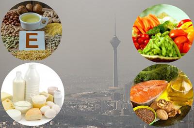 مواد غذایی مفید در مقابل آلودگی هوا,مقاومت بدن در برابر هوای آلوده