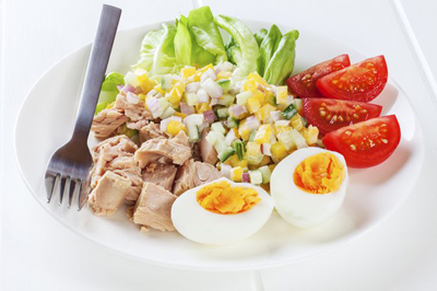 حذف پروتئین عضلات, رژیم کم کربوهیدرات و کالری
