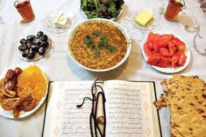روزه در تابستان, اصول تغذیه در ماه رمضان
