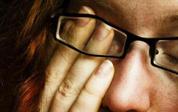 دلایل خستگی چشم, قوزقرنیه