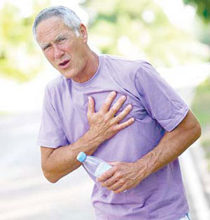 علل درد قفسه سینه, بیماریهای قلبی
