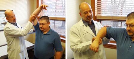 فیزیوتراپی, درمان سندروم شانه یخ زده