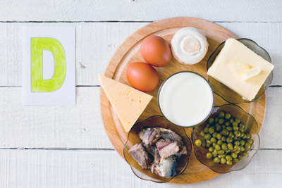 منابع غذایی ویتامین د, غذاهای حاوی ویتامین د