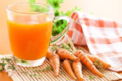 پیشگیری از سرطان, خواص آب هویج