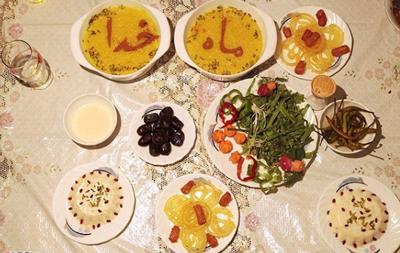 غذاهاي مخصوص ماه رمضان, رژيم غذايي در ماه رمضان