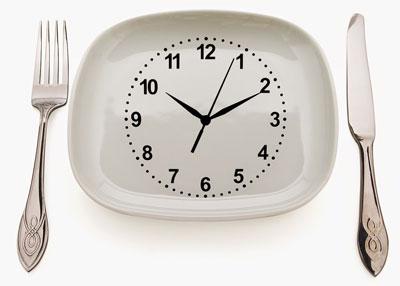 زمان غذا خوردن,قانون غذا خوردن
