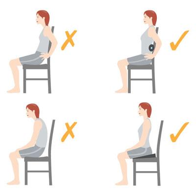 قوز کردن,نحوه صحیح نشستن,عوارض قوز کردن
