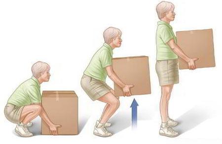 نحوه بلند کردن اجسام سنگین,بلند کردن اجسام سنگین,طریقه صحیح بلند کردن اجسام سنگین