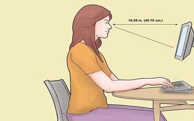 طرز صحیح نشستن,نحوه صحیح نشستن پشت کامپیوتر,طرز صحیح نشستن روی صندلی