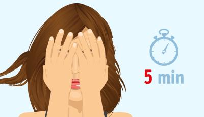 8 درمان خانگي براي رفع خستگي چشم, چند ورزش ساده براي رفع خستگي چشم