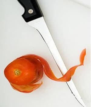 پوست کندن گوجه