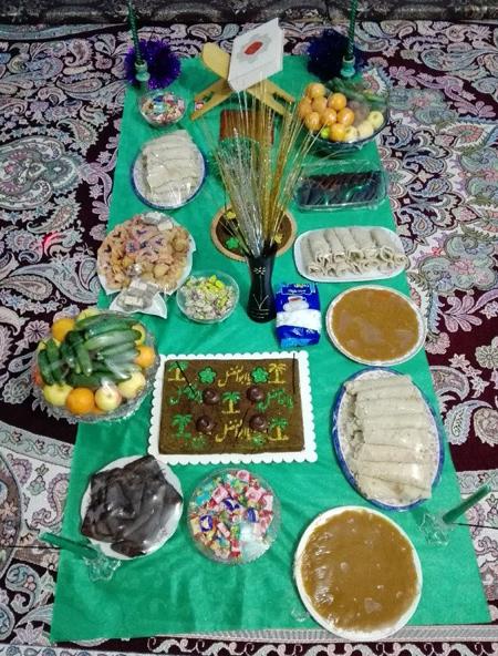 وسایل لازم برای سفره حضرت ابوالفضل, خوراکی های موجود در سفره حضرت ابوالفضل