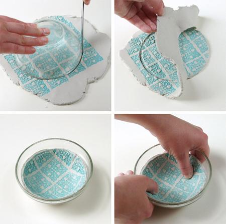 وسایل لازم برای درست کردن کاسه های خمیری, مراحل ساخت کاسه های خمیری
