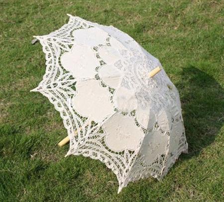 چترهای گیپور عروس,چترهای سفید مناسب عروس