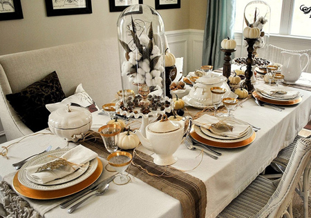 چیدمان و تزیین میز غذاخوری عروس