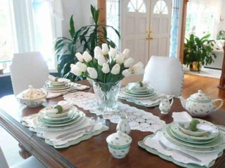 تزیین میز غذاخوری عروس,تزیین کردن میز غذاخوری