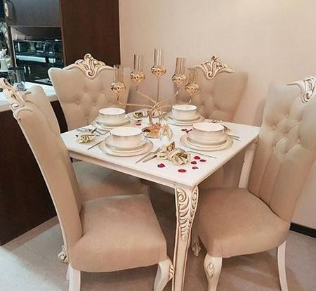 مدل تزیین میز غذاخوری عروس,نحوه چیدمان میزغذاخوری عروس