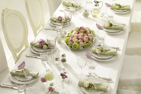 ایده هایی برای تزیین میز غذاخوری عروس,مدل تزیین میز غذاخوری عروس