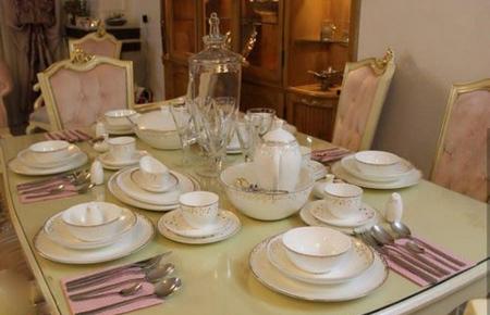 چیدمان میز غذاخوری در جهیزیه,مدل های چیدمان میز ناهارخوری عروس