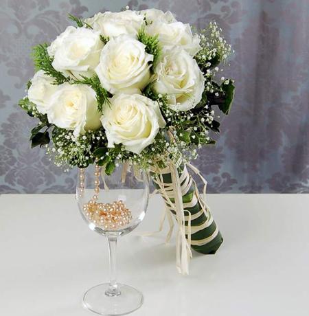 دسته گل های سفید عروس,دسته گل عروس