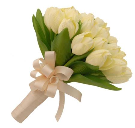 مدل دسته گل عروس, مدل دسته گل سفید عروس