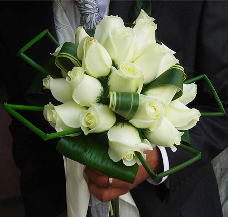 مدل دسته گل سفید عروس,دسته گل عروس به رنگ سفید