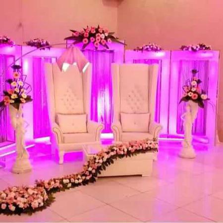 مدل جایگاه عروس و داماد,تزئین جایگاه عروس و داماد