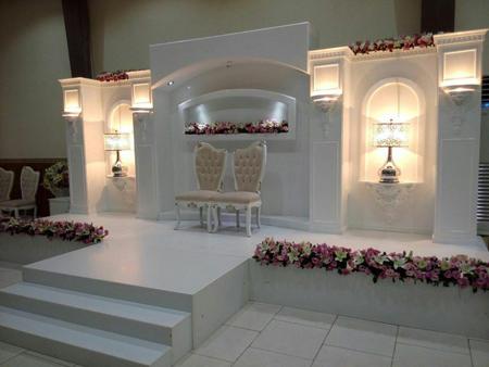 تزيين جايگاه عروس و داماد با گل, مدل تزيين جايگاه عروس و داماد