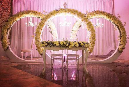 شيک ترين جايگاه هاي عروس و داماد,تزيين جايگاه عروس و داماد