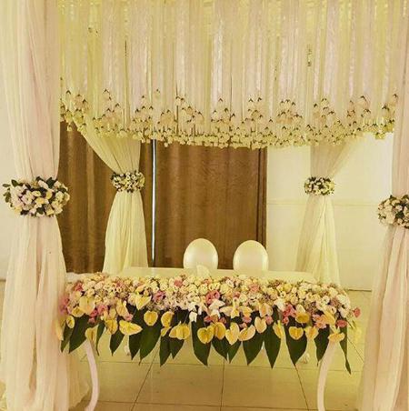 طراحي جايگاه عروس و داماد,جايگاه عروس و داماد