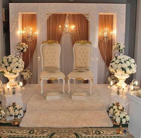 مدل تزیین جایگاه عروس و داماد, تزیینات زیبای جایگاه عروس و داماد