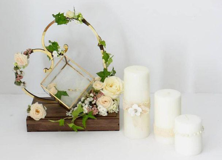 تزیین جاحلقه ای, جاحلقه های عروس و داماد