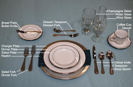 نکاتی برای چیدمان رسمی میز,تکنیک های چیدمان رسمی میز