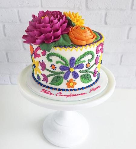 تزیین کیک گلدوزی, ایده هایی برای تزیین کیک تولد