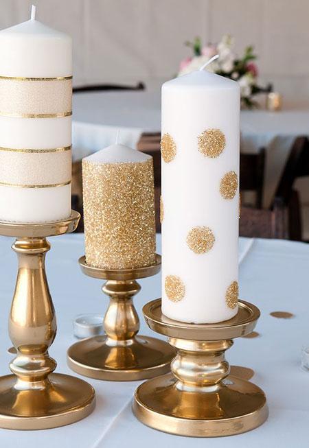 تصاویر تزیین شمع,تزیین شمع با گل