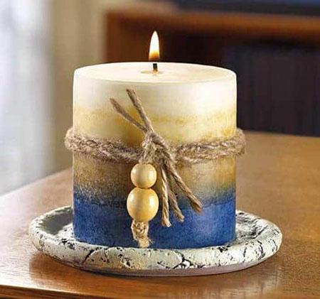 تزیین شمع با گل,جدیدترین تزیینات شمع