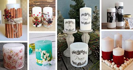 جدیدترین تزیینات شمع,آموزش تزئین شمع